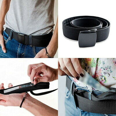 Travel Security Belt Hidden Money Pouch Money Wallet Pocket Waist Belt Safe