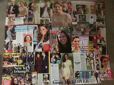 KATE MIDDLETON, DUCHESS OF CAMBRIDGE - Over 20 clippings - Prince William