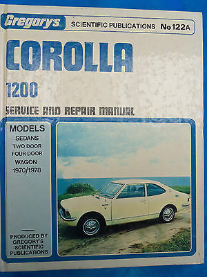 Toyota Corolla 1200 Workshop Manual 1970/1978