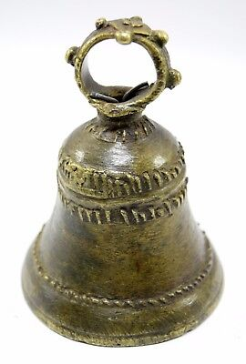 Traditional Asian Vintage Big Bell Beautiful Home Decor Rich Patina. G70-198 AU