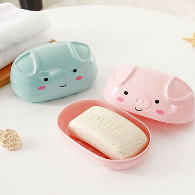Practical Soap Holder Material Oval Creative Soap Dishes Soap Box for Shower BS