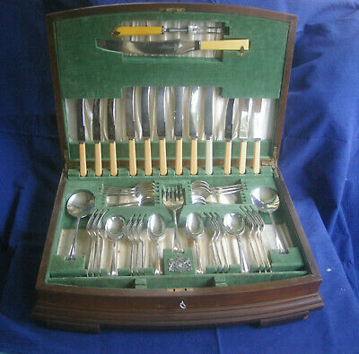 Commemorative 1937 KING GEORGE VI Coronation Viner & Hall Canteen of Cutlery