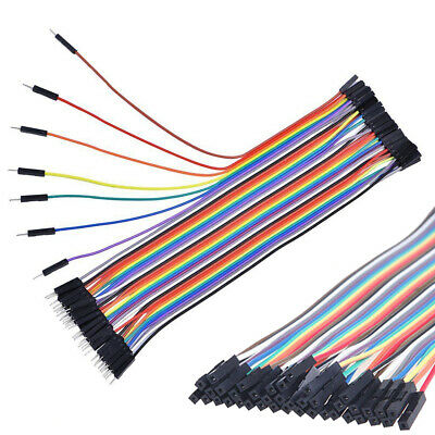 40x Dupont Wire Jumpercables Male to Female 1P-1P 20cm 2.54MM For Arduino RM509