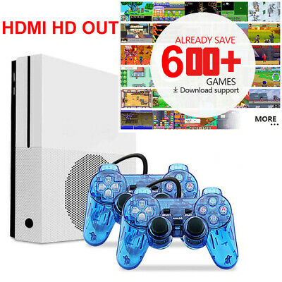 Classic Game Console Built-in 600 Games TV Movie HD Output Video W/2 Joysticks