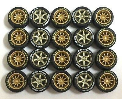 3 sets 1:64 rubber tires rims TE37 CE28 fit Kyosho Hot Wheels Tomica diecast