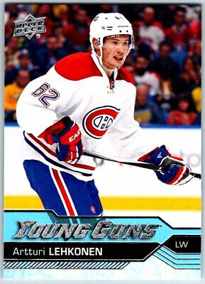 2016-17 UPPER DECK YOUNG GUNS ARTTURI LEHKONEN Rookie RC Card # 232 Canadiens BV