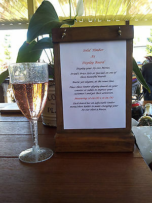 A5 Standing Menu Boards Drink Lists Wine and Cheese Specials Bars Cafes Bistro