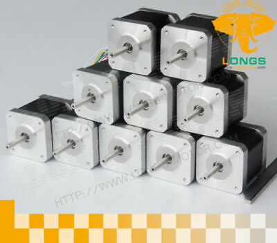 10PCS Nema17 1.7A 75oz-in17HS4401N Longs Stepper Motor 3D printer CNC Mill LONGS