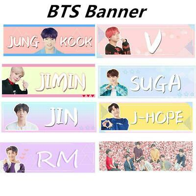 Kpop BTS World Tour Concert Fabric Banner Suga V Love Yourself Hang up Poster