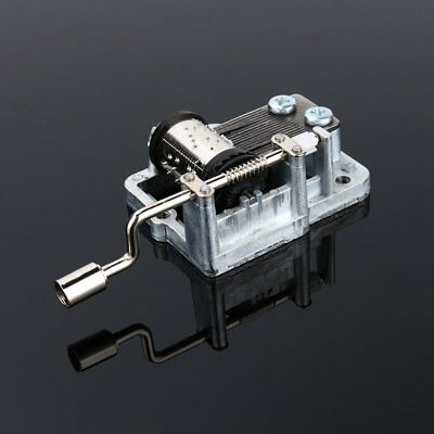 Nice Metal Mechanical Hand Crank DIY Music Box Movement 18 notes Cute Crafts US