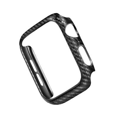 Carbon Fiber Case Protective Frame For Apple Watch iWatch 4 3 2 1 38/42/40/44mm