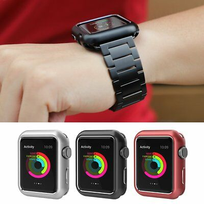 Fashion Magnetic Metal Protector iWatch Case For Apple Watch Series 3 21 38 42mm