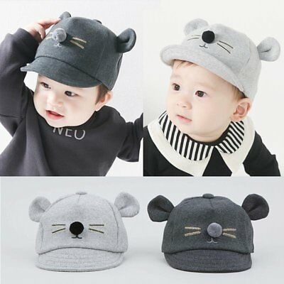 Baby Boys Girls Children Toddler Infant Cat Ear Baseball Hat Kids Visor Cap Hats