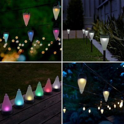 Outdoor Garden Colorful Led Solar Landscape Path Lights Yard Pathway Lamp