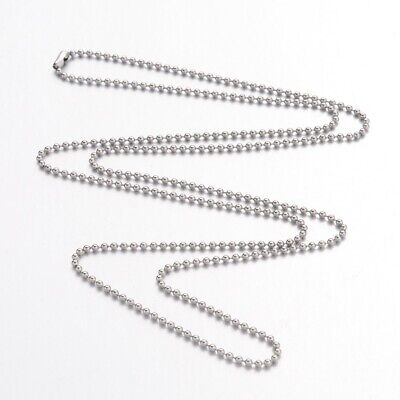 """30pc 23.6"""" Stainless Steel Necklace Ball Chains Bracelet Necklace Jewelry Making"""