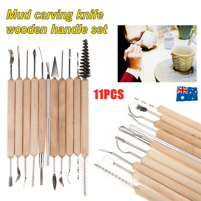 11xCarver Clay Sculpting Carving Pottery Tool Polymer Modeling DIY Sculpture Set