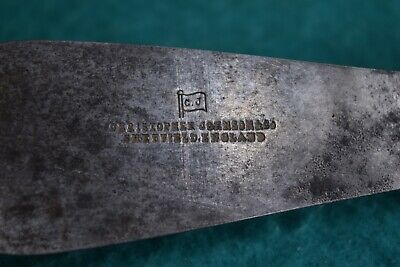 Antique C.J Christopher Johnson & Co Brass & Rosewod Putty Knife Old Tool