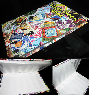Premier 22x16cm World Postage Stamp Album stock Book 12 pages for 300+ stamps
