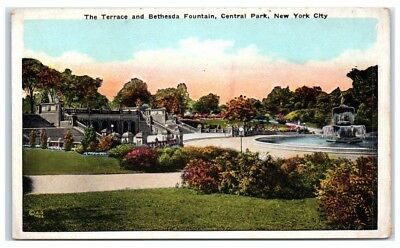 Early 1900s Terrace and Bethesda Fountain, Central Park, New York City Postcard