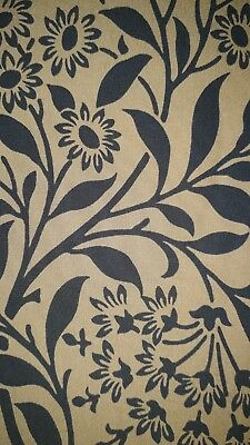 William Morris Michaelmas Daisy Curtain Craft Fabric Black/brown 3 Metres