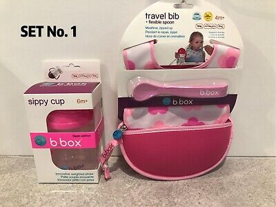 *B.BOX Sippy Cup 6m+ 240ml Baby Toddler Drinking Bottle & Travel Bib & Spoon Set