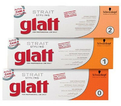 Schwarzkopf GLATT Strait Styling - Hair RELAXER Straightener Smoother - 0 1 OR 2