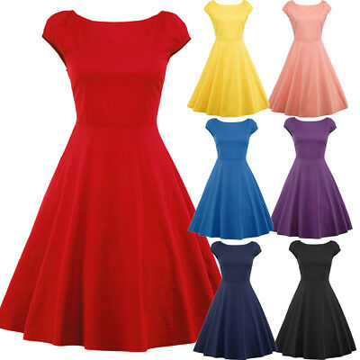 2dbe4f3a9d94f WOMENS STYLE 50S Rockabilly Retro Swing Pinup Evening Party Skater ...