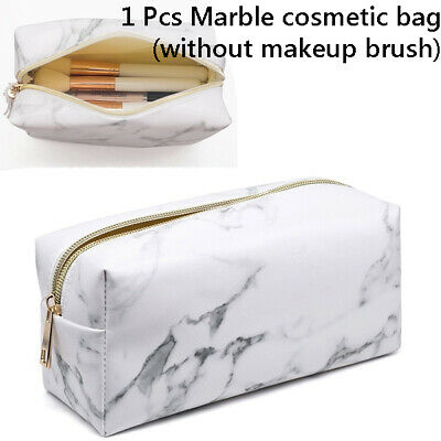 Marble lines Purse Box Travel Makeup Cosmetic Bag Toiletry Pencil Case