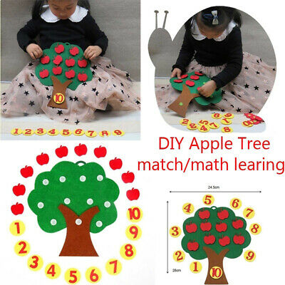 DIY Apple Tree Match Digital Teaching Toy Montessori Educational Toy Puzzle Toy