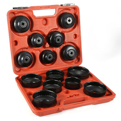14Pcs/set Cup Type Aluminium Oil Filter Wrench Removal Socket Remover Tool Kit