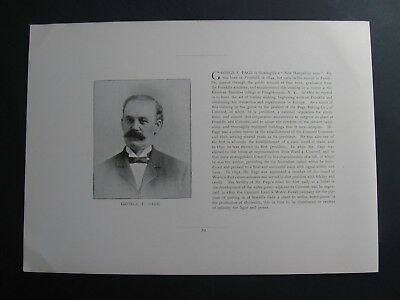 George F Page , Worlds Fair Commission ,Concord Land & Water Power Company New H