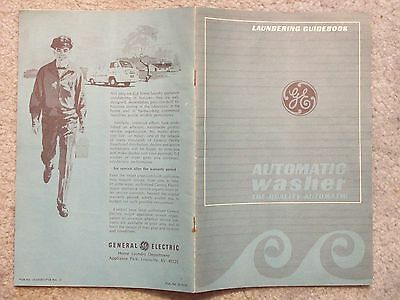 1970 circa GENERAL ELECTRIC LAUNDERING GUIDEBOOK AUTOMATIC WASHER THE QUALITY AU