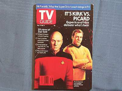 Tv Guide It'S Kirk Vs. Picard 25 Years Of Star Trek 1991 Aug Experts Debate Ente