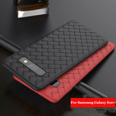 For Samsung Galaxy S10 Plus S10e Case Luxury Slim Soft Rubber Leather Skin Cover