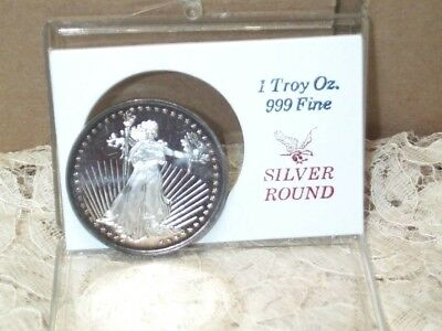 SilverTowne Winchester Indiana 1 Troy Ounce .999 Fine Silver Lady Liberty Round