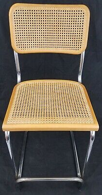 Chairs Mid Century Marcel Breuer Cesca 0990 Cane Cantilever Barstool Made In Italy~xlnt