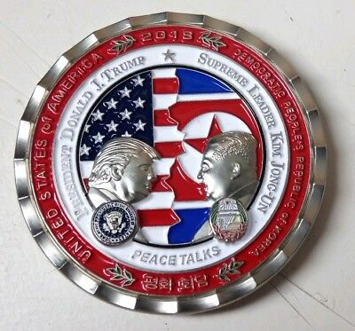 2018 Donald J. Trump & Kim Jong Un Peace Talks Summit Commemorative Coin W/COA