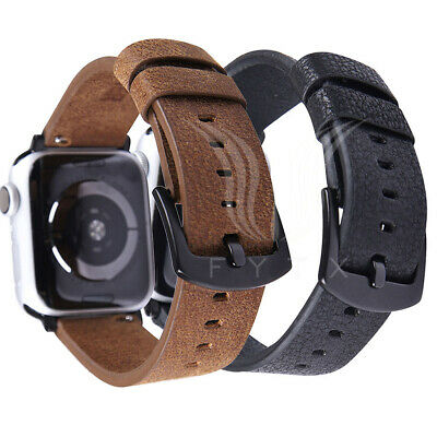 Luxury Genuine Leather Strap Watch Band for Apple Watch iWatch 38/42/40/44mm
