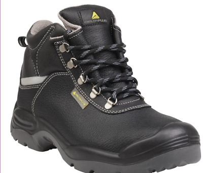 4980305ca8f DELTA PLUS PANOPLY S3 Wide Fit Black Mens Steel Toe Safety Work Boots  (SAULT2)