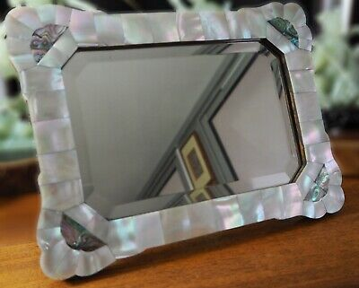 Miroir Art Nouveau Nare Incrusté French Mirror Arts & Crafts Mother Pearl Inlay