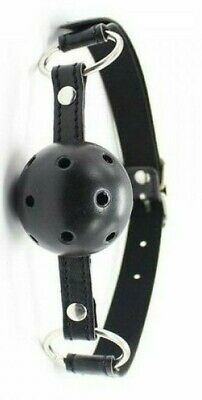gag ball morso traspirante nero bondage fetish costrittivo harness restriant kit