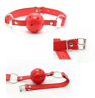 morso traspirante red gag ball  fetish bondage costrittivo restriant kit sex toy