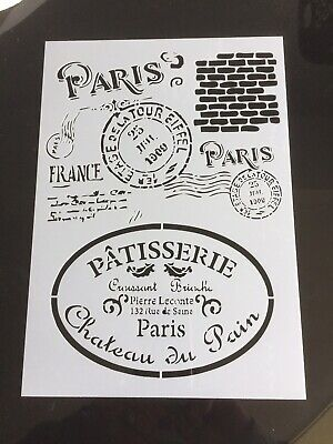 Vintage Shabby Chic French Cafe Style Stencil For Furniture Tiles Wood Craft 45
