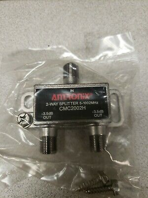 Antronix High Performance 2-Way Cable TV Splitter CMC2002H OTA Coaxial 5-1002M