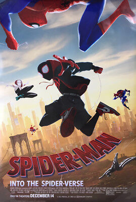 SPIDER-MAN INTO THE SPIDER-VERSE MOVIE POSTER 2 Sided ORIGINAL FINAL 27x40