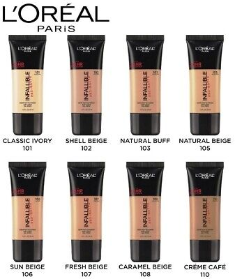 LOreal Paris Infallible Pro Matte Up to 24Hr Foundation 101 Shade To 110 Shade