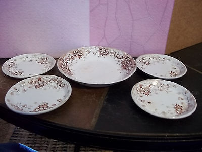 Stratford Bowl and 4 Small Plates for Children - Vintage