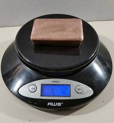 1lb 1.2oz Solid Copper Bar Hand-poured Ingot DEAL!!!