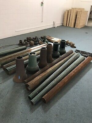 HUGE LOT of Cast Iron Street Lamps Lights & Parts Architectural Salvage Lighting