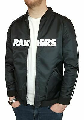 Majestic NFL Oakland Raiders Mens Insulated Bomber Jacket Official Apparel